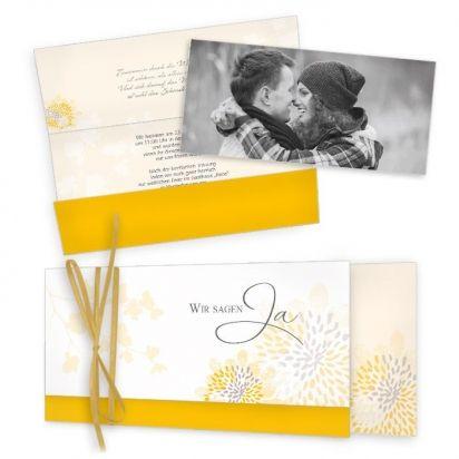 Hochzeitseinladungen Gelb