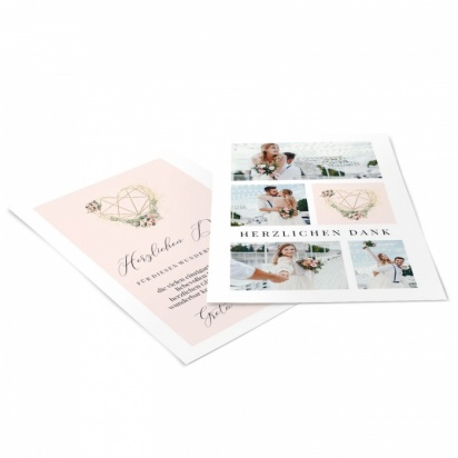 Danksagungskarte zur Hochzeit