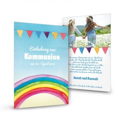 Danksagung Zur Kommunion / Konfirmation; Einladungskarte Zur Kommunion /  Konfirmation