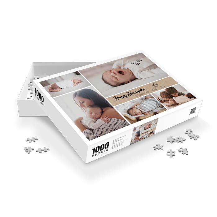 Fotopuzzle mit vielen Fotos Ihres Baby´s