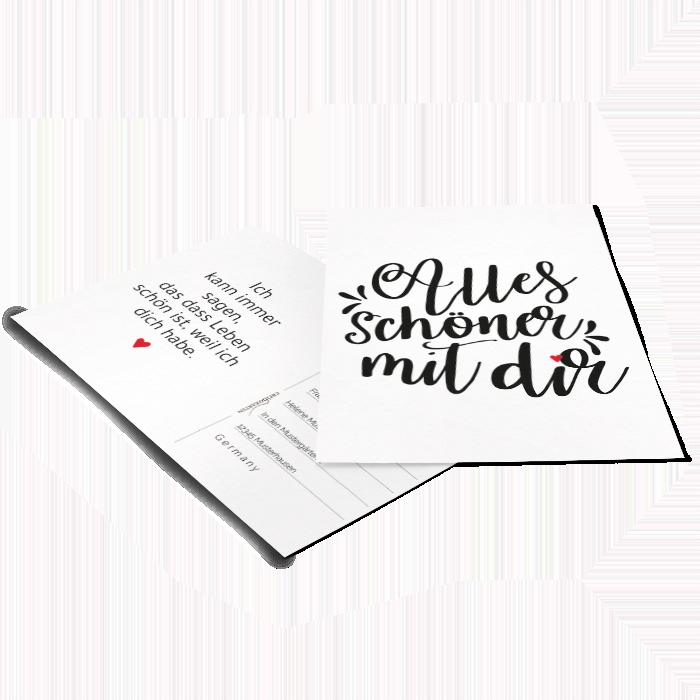 Grußkarte im Hand Lettering Design