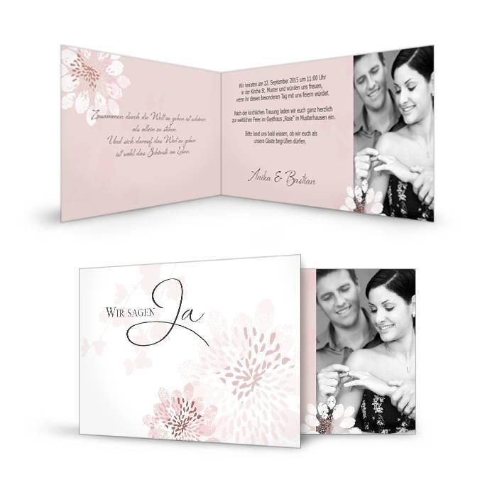 Die Karten >> Hochzeitskarten >> Einladungen >> Anika und B...