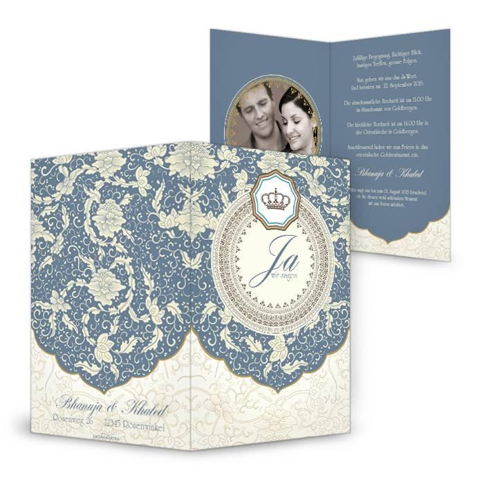 Orientalische Hochzeitseinladungen Mit Edlen Verzierungen Carinokarten