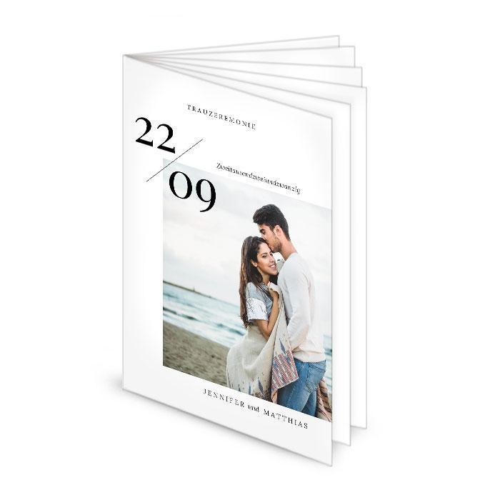 Kirchenheft 12seitig mit Foto und großen Datum