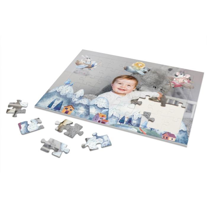 Rahmenpuzzle für Kinder mit großen Foto und Tiermotiven - 40 Teile