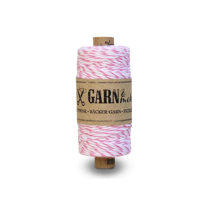 Bäcker-Garn in rosa-weiß - für Ihre Hochzeitsdetails