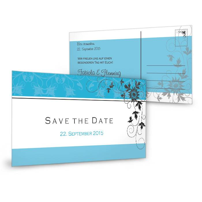 Save the Date Postkarte 21 x 10 cm