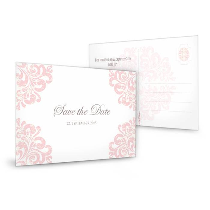 Postkarte 15 x 10 cm - Save the Date
