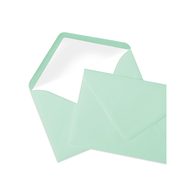Briefumschlag Seidenfutter Mint (114 x 162 mm)