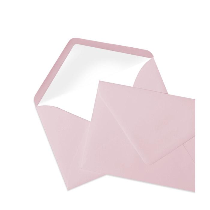 Briefumschlag Seidenfutter Rosé (114 x 162 mm)