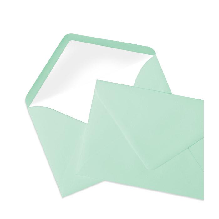 Briefumschlag Seidenfutter Mint (120 x 180 mm)