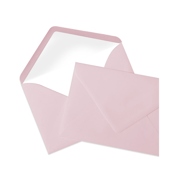 Briefumschlag Seidenfutter Rosé (120 x 180 mm)