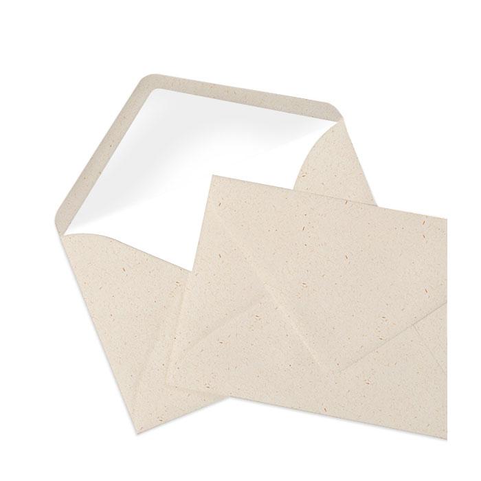 Briefumschlag Seidenfutter Terra Vanilla (120 x 180 mm)