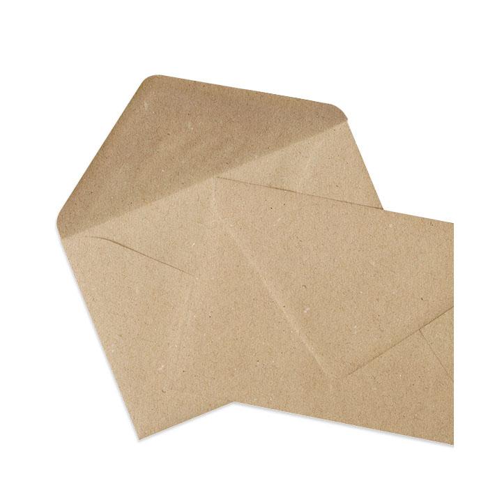 Recycelter Briefumschlag in Kraftpapieroptik (114 x 162 mm)