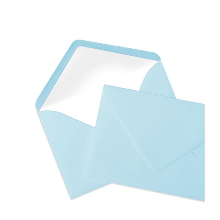 Briefumschlag Seidenfutter Aqua (Hellblau) (114 x 162 mm)