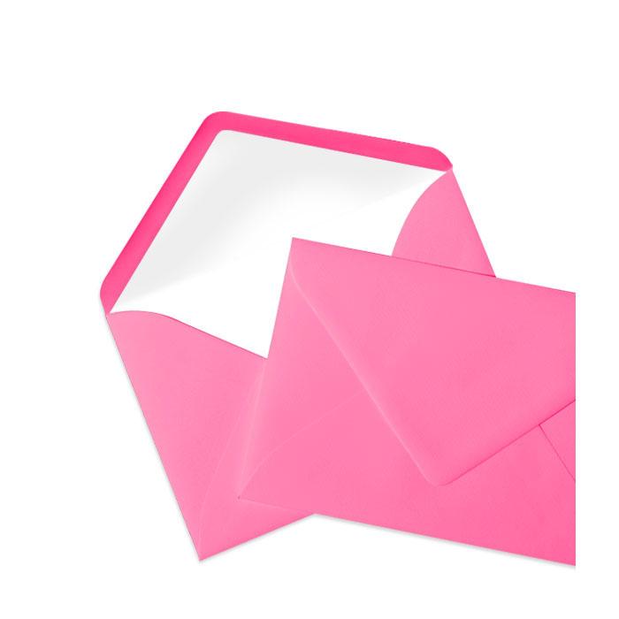 Briefumschlag Seidenfutter Fuchsia (Pink) (114 x 162 mm)