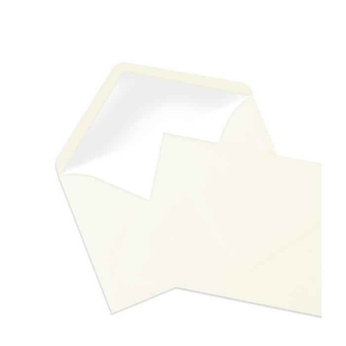 Briefumschlag Seidenfutter Ivory (creme) (114 x 162 mm)