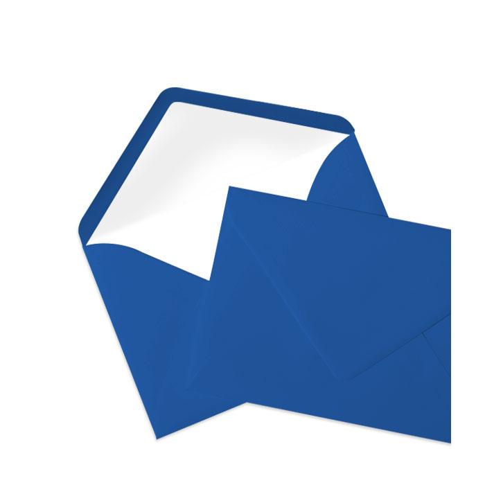 Briefumschlag Seidenfutter Jeansblau (114 x 162 mm)