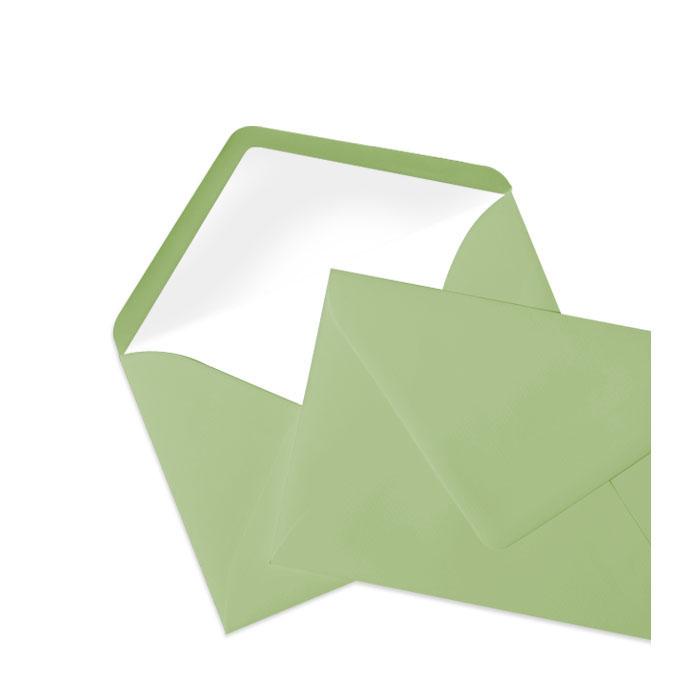 Briefumschlag Seidenfutter Oliv (114 x 162 mm)