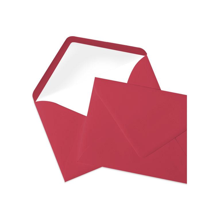 Briefumschlag Seidenfutter Rot (114 x 162 mm)