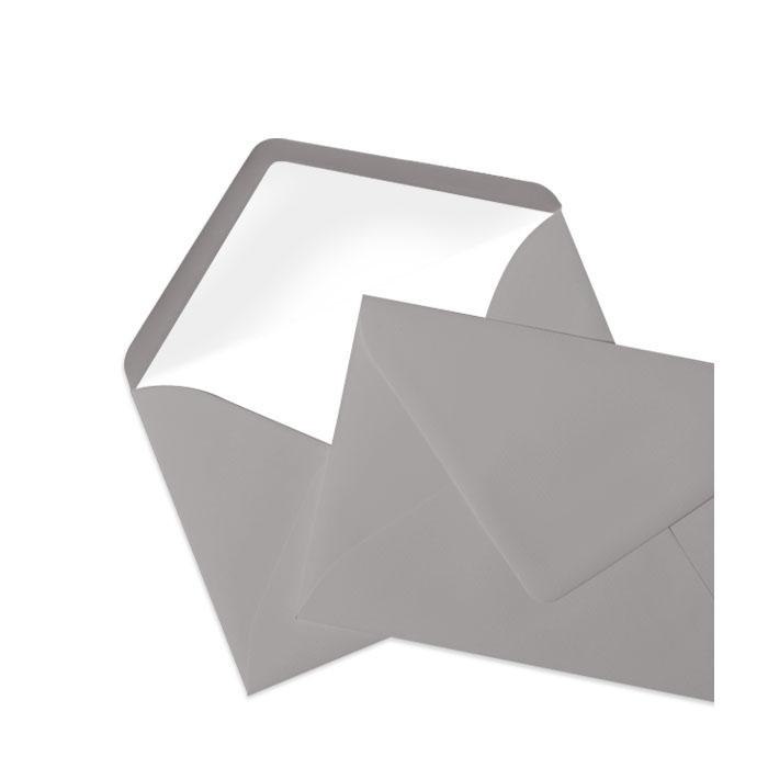 Briefumschlag Seidenfutter Taupe (Graubraun) (114 x 162 mm)