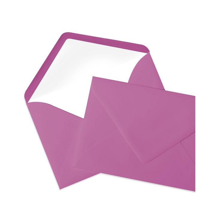 Briefumschlag Seidenfutter Cassis (Dunkellila) (120 x 180 mm)