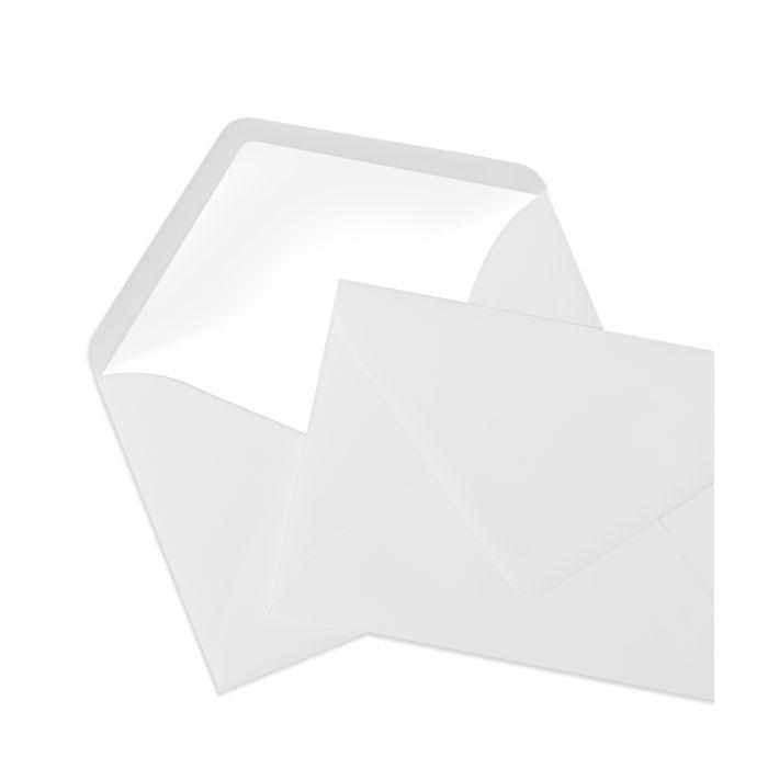 Briefumschlag Seidenfutter Eisgrau (120 x 180 mm)