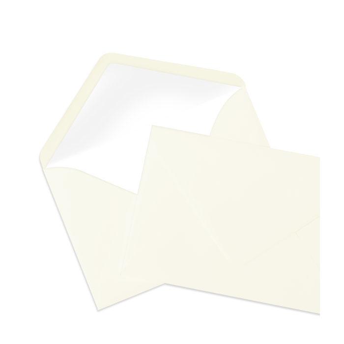 Briefumschlag Seidenfutter Ivory (creme) (120 x 180 mm)