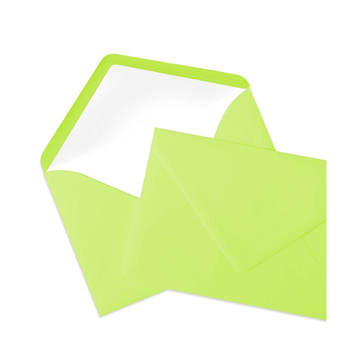 Briefumschlag Seidenfutter Maigrün (Grüngelb) (120 x 180 mm)