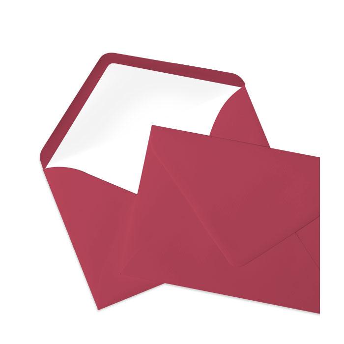 Briefumschlag Seidenfutter Rosso (120 x 180 mm)