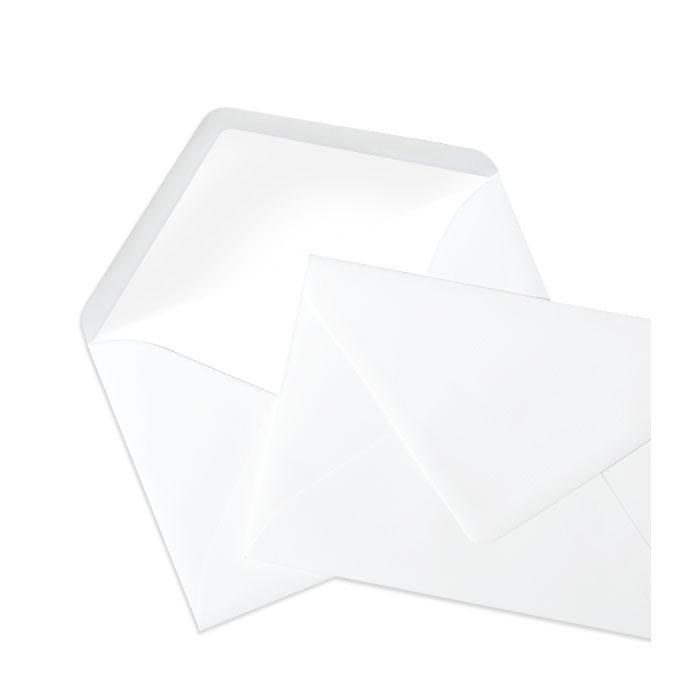 Briefumschlag Seidenfutter Weiß (120 x 180 mm)