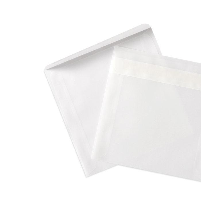 Briefumschlag Transparent weiß (125 x 125 mm)