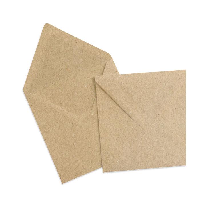 Recycelter Briefumschlag in Kraftpapieroptik (155 x 155 mm)