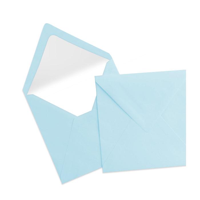 Briefumschlag Seidenfutter Aqua (hellblau) (164 x 164 mm)