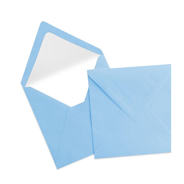Briefumschlag Seidenfutter Dunkelblau (164 x 164 mm)