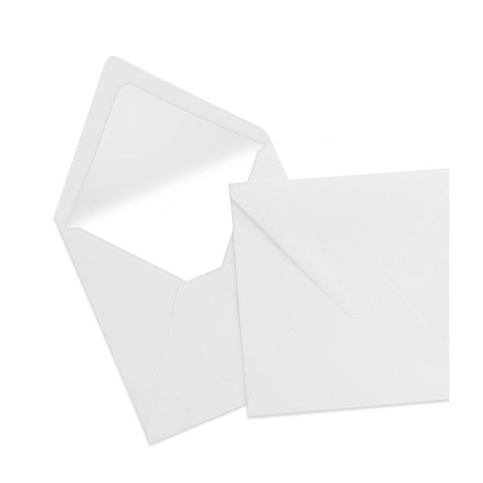 Briefumschlag Seidenfutter Eisgrau (164 x 164 mm)