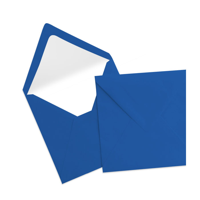 Briefumschlag Seidenfutter Jeansblau (164 x 164 mm)