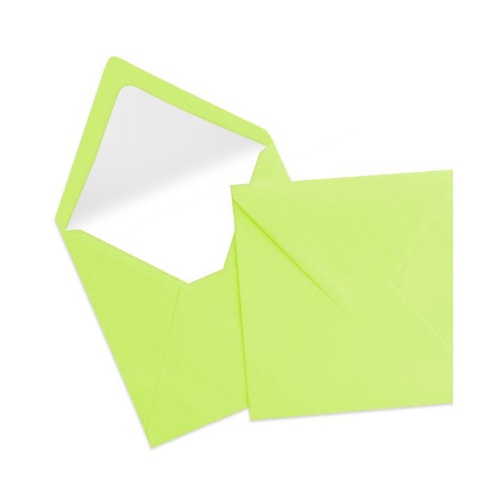 Briefumschlag Seidenfutter Maigrün (Grüngelb) (164 x 164 mm)