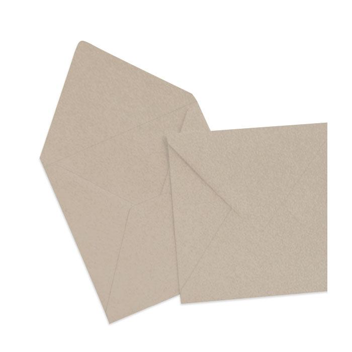 Briefumschlag Taupe Metallic (164 x 164 mm)