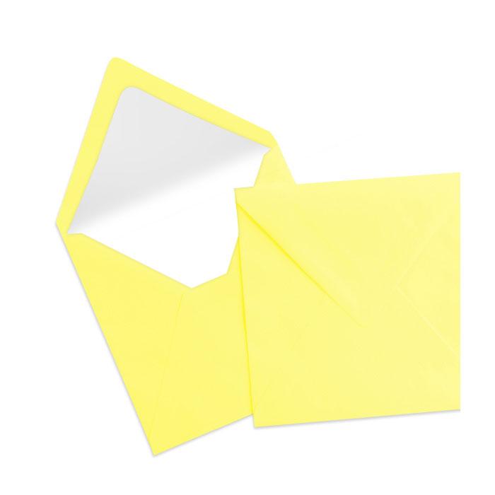 Briefumschlag Seidenfutter Soleilgelb (164 x 164 mm)