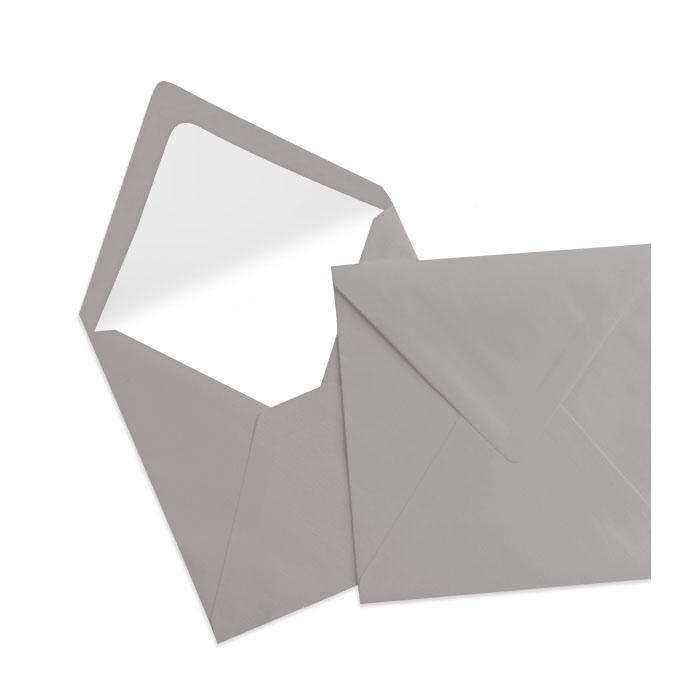 Briefumschlag Seidenfutter Taupe (Graubraun) (164 x 164 mm)