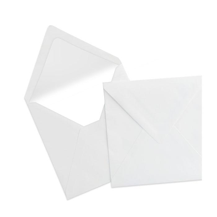 Briefumschlag Seidenfutter Weiß  (164 x 164 mm)