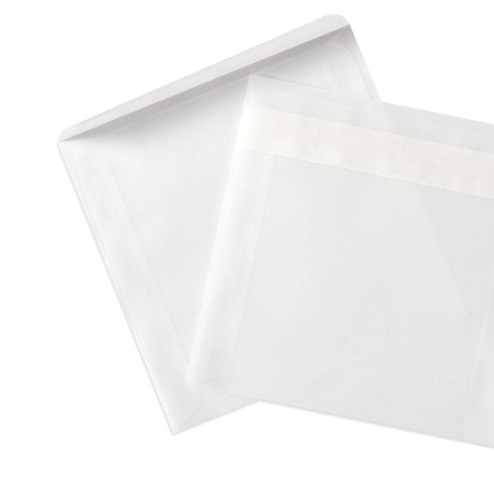 Briefumschlag Transparent weiß (160 x 160 mm)