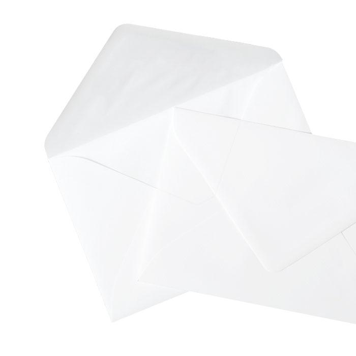 Briefumschlag Transparent weiß (150x210 mm)