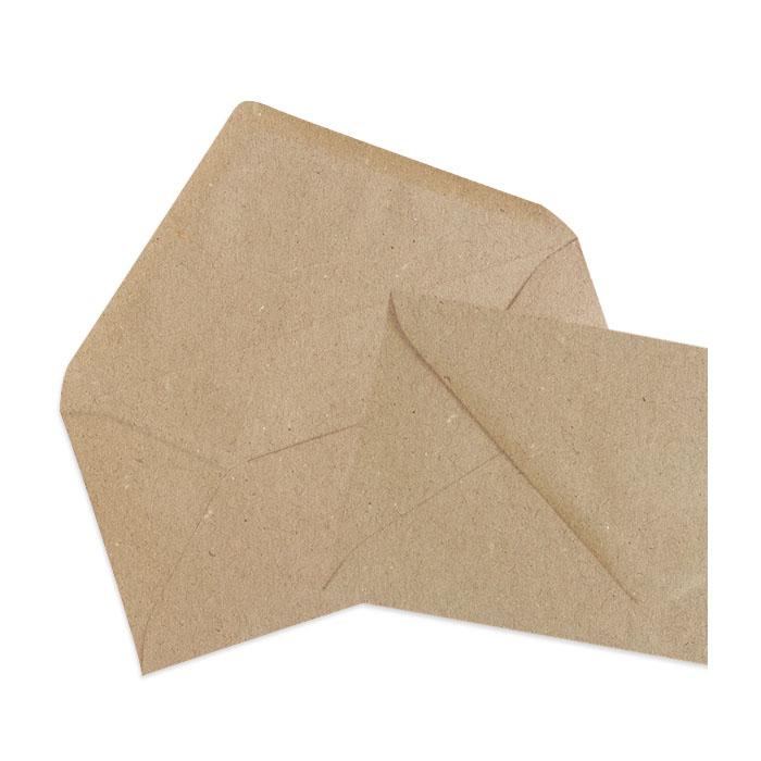 Recycelter Briefumschlag in Kraftpapieroptik (220 x 110 mm)