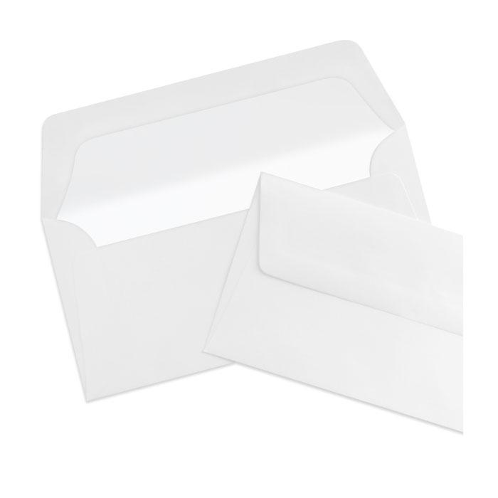 Briefumschlag Seidenfutter Eisgrau  (220 x 110 mm)