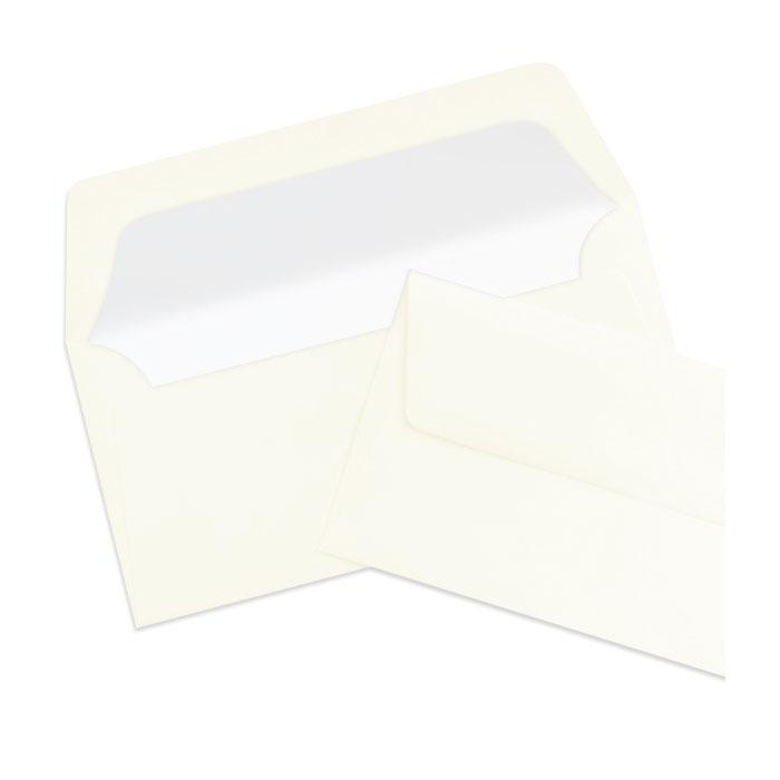 Briefumschlag Seidenfutter Ivory (creme) (220 x 110 mm)
