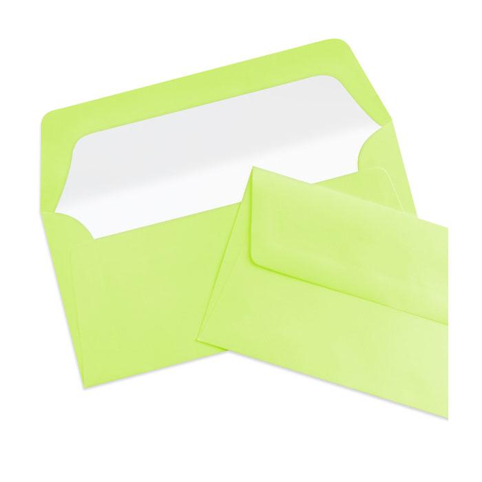 Briefumschlag Seidenfutter Maigrün (Grüngelb) (220 x 110 mm)