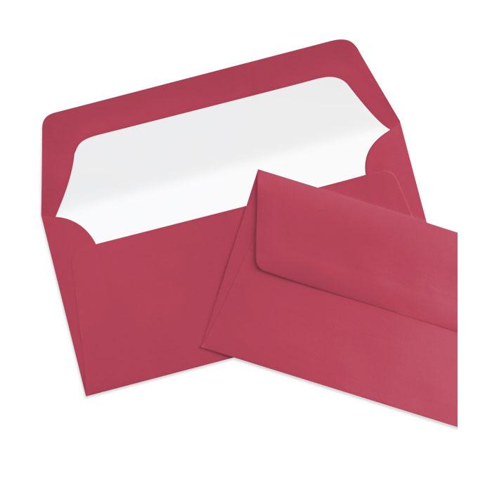Briefumschlag Seidenfutter Rosso (Dunkelrot) (220 x 110 mm)