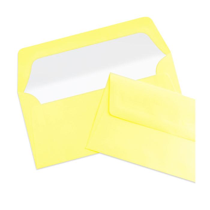 Briefumschlag Seidenfutter Soleilgelb (220 x 110 mm)